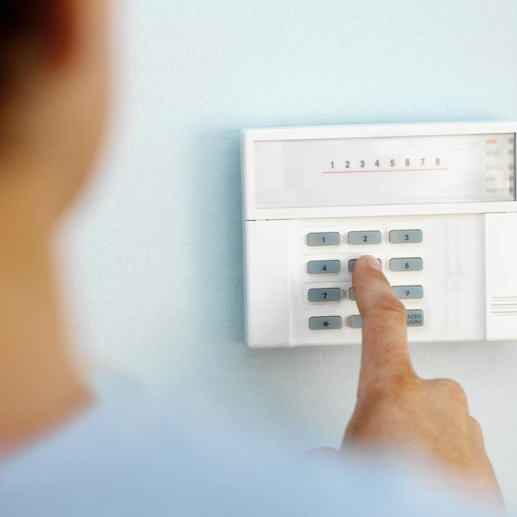 Sistema de alarmes instalado em uma casa