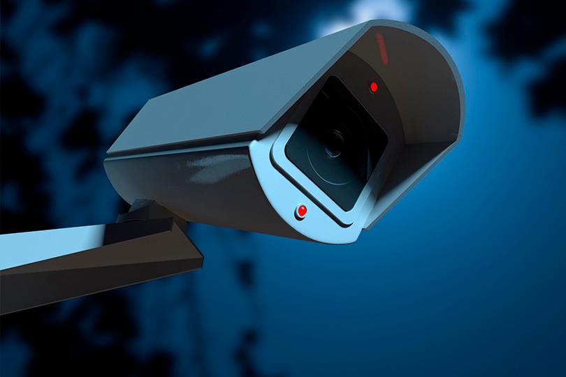 Câmera que envia imagens para um sistema CFTV