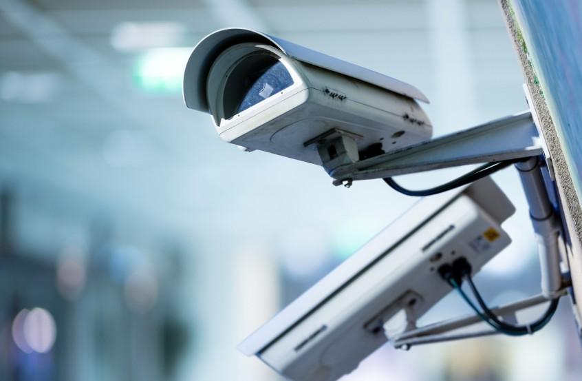 Câmera de segurança instalada por uma empresa de segurança patrimonial
