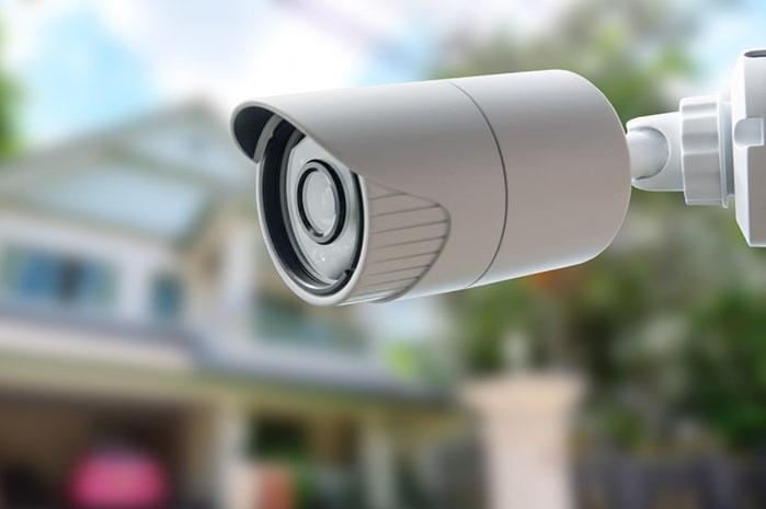 Câmera de uma empresa de segurança residencial